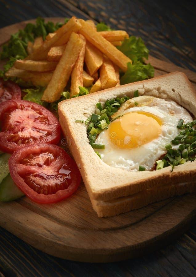 Omelette kanapka fotografia stock