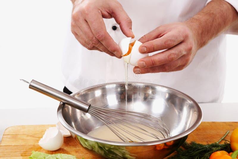 omelette narządzanie fotografia royalty free