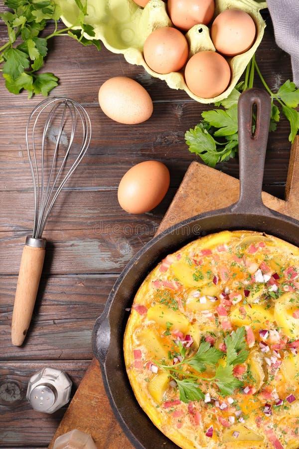 Omelette ou tortilla photo libre de droits