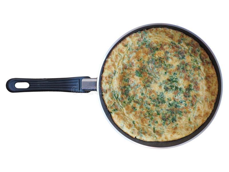 omelette robić od smażących bijących jajek obraz stock