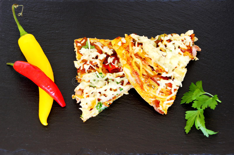 Omelette Slices royalty free stock photography