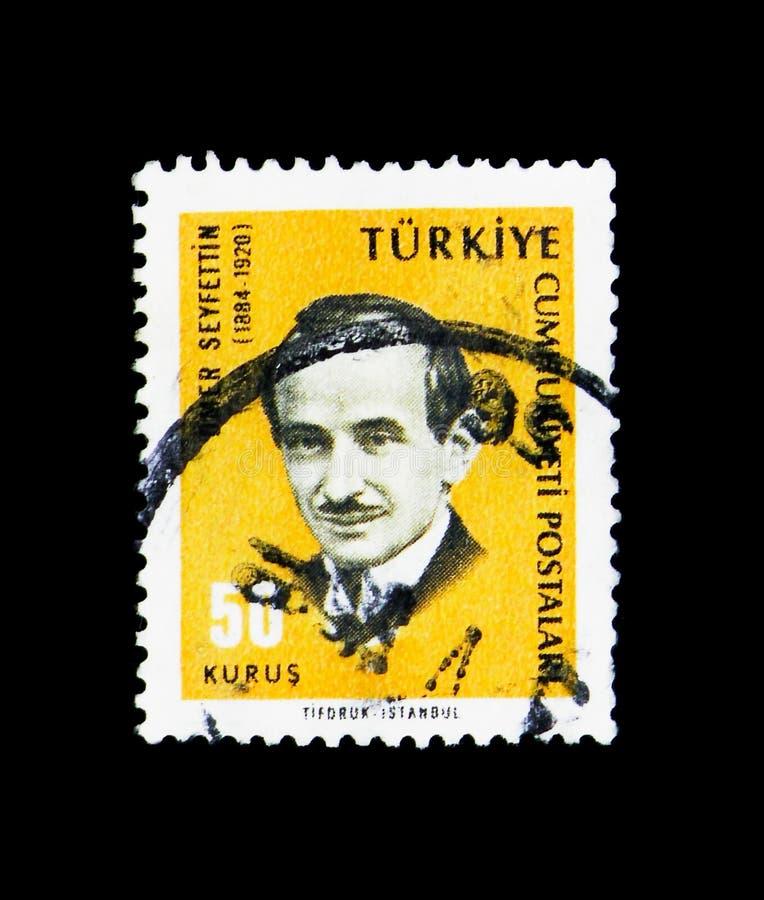 Omer Seyfettin (1884-1920), writer, Personalities serie, circa 1 royalty free stock photos