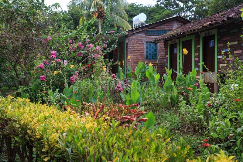 Ometepe Island toilets, Nicaragua stock image