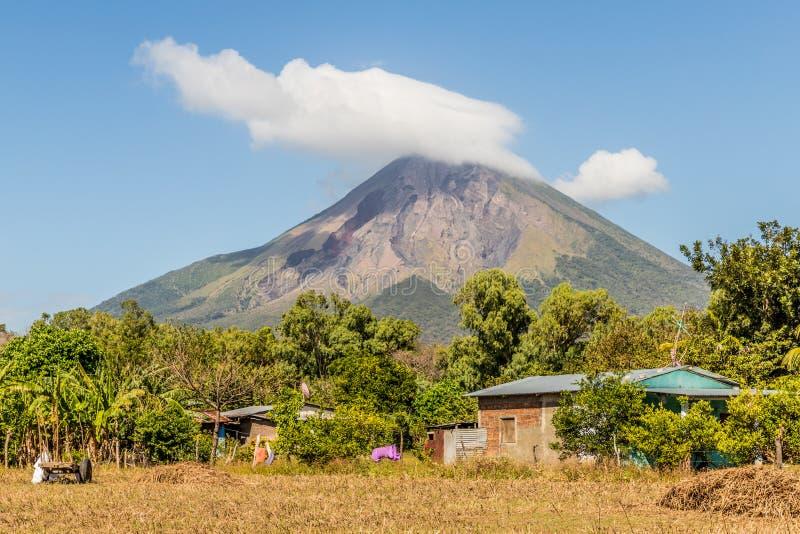 Ometepe Vulkanisch eiland stock afbeeldingen