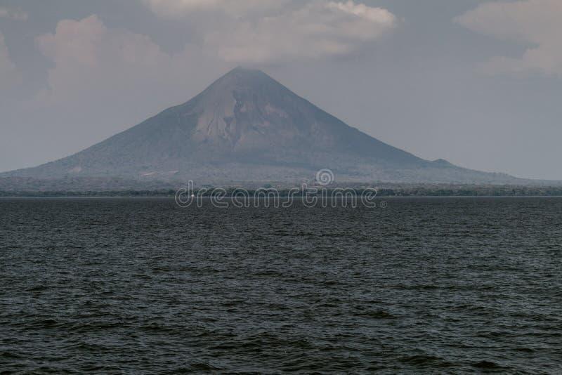 Ometepeeiland in het meer van Nicaragua Volcano Concepcio royalty-vrije stock afbeeldingen
