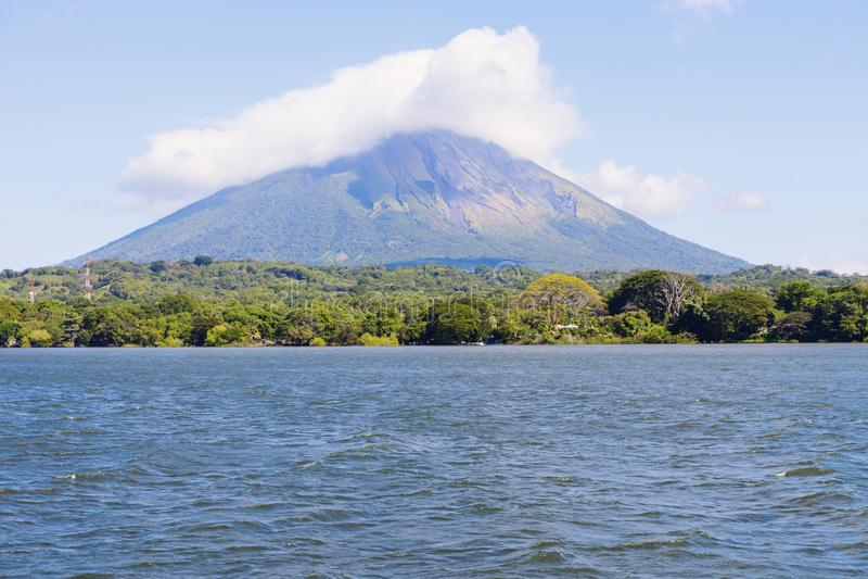 Ometepeeiland in Nicaragua stock foto