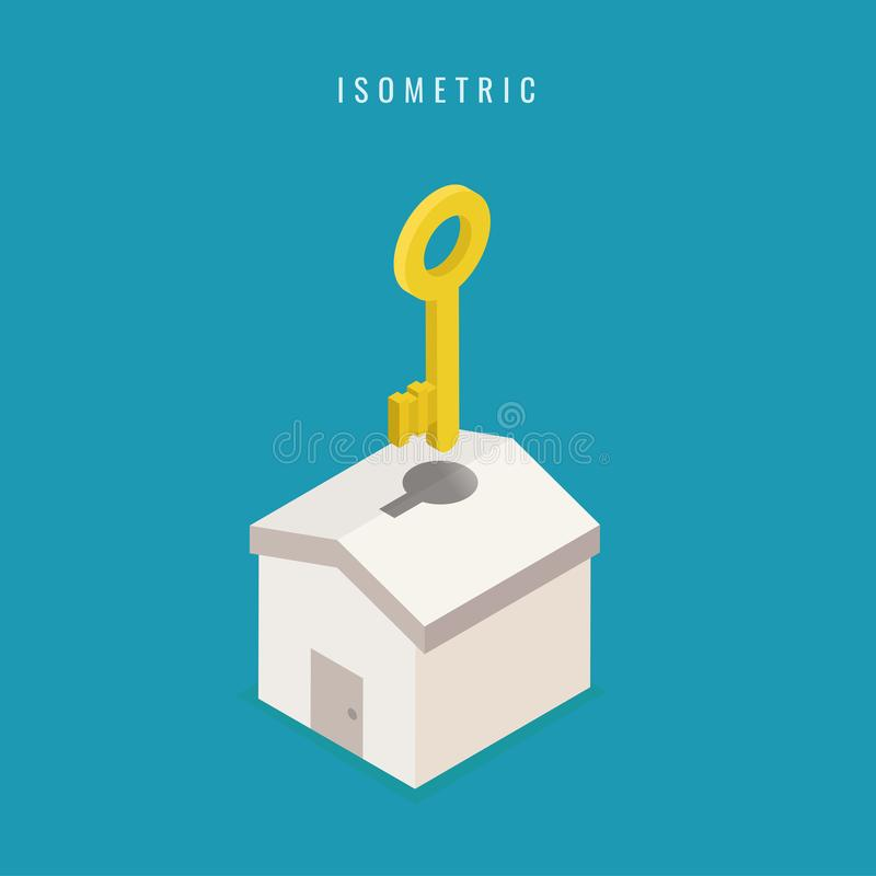 ometric. icon. Business. giving house keys design. Vector illustration vector illustration