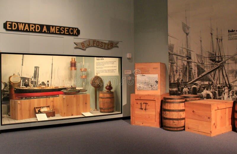 Omfattande skärm på historien av sändnings, statligt museum, Albany, 2016 arkivbild