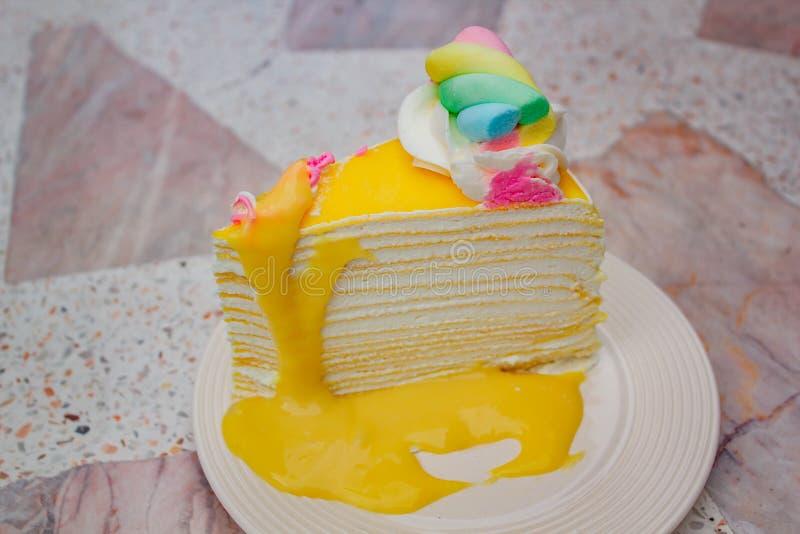 Omfloers cake Thaise stijl royalty-vrije stock fotografie