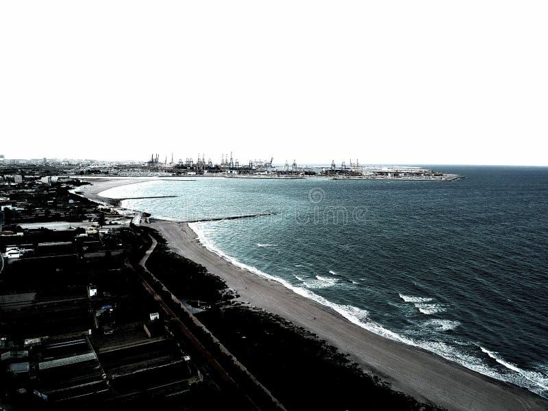 Omformad seascape royaltyfria bilder