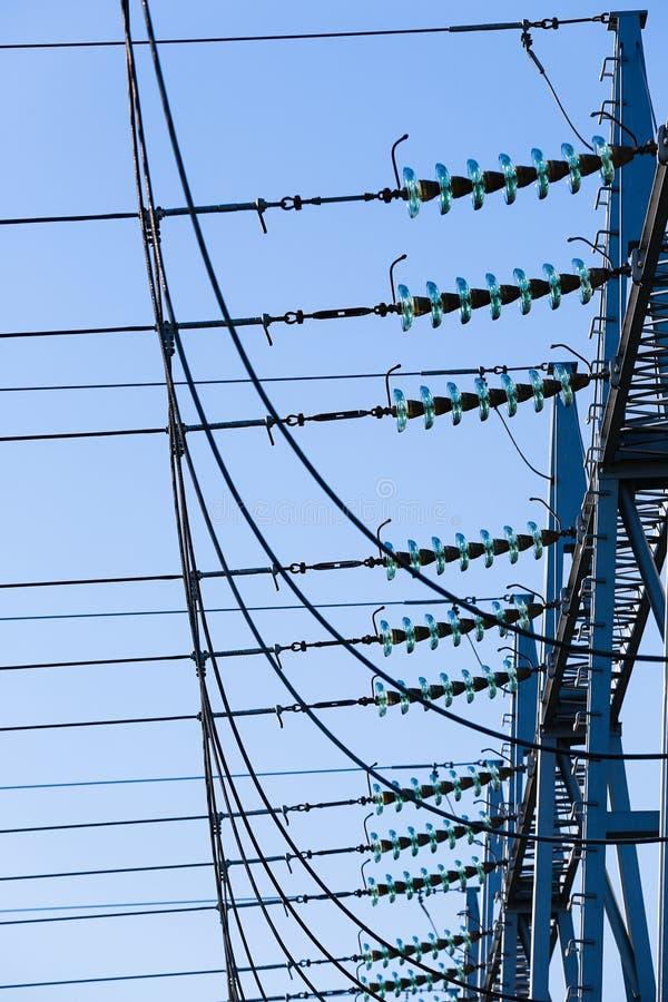 Omformarstationen, avdelningskontor skriver in det elektriska systemet arkivbilder