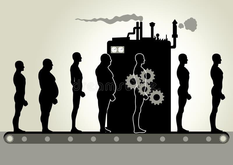 Omformningsmaskin stock illustrationer