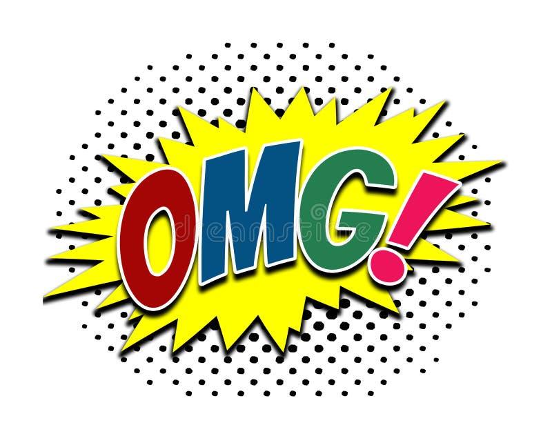 OMG! красочный дизайн искусства шипучки бесплатная иллюстрация