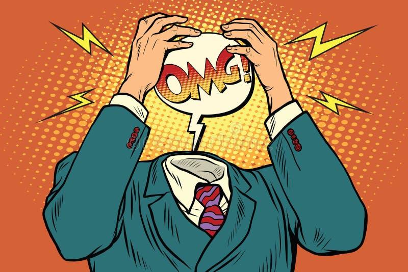 OMG der Druck oder die Kopfschmerzen stock abbildung