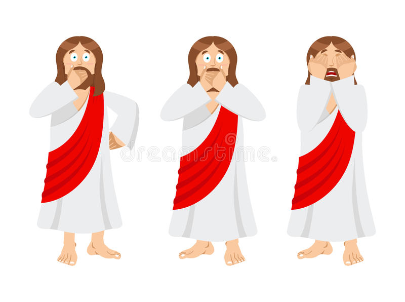 Download OMG Jesus Is Facepalm. Oh My God Christ Is Disappointed. Disappo Stock Vector - Illustration of character, lord: 99118048