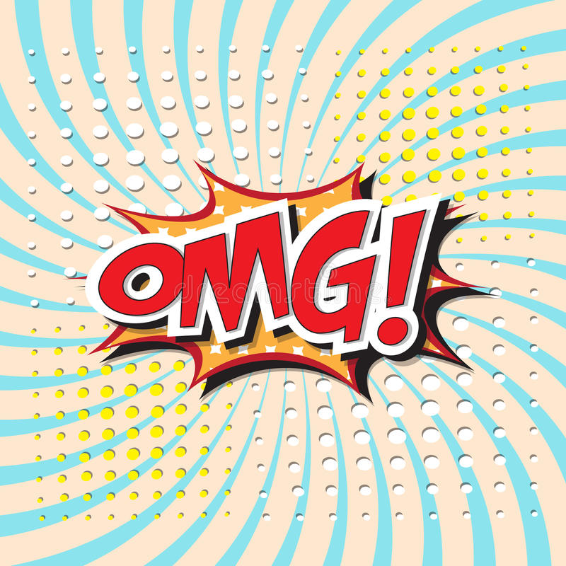 OMG! palavra ilustração do vetor