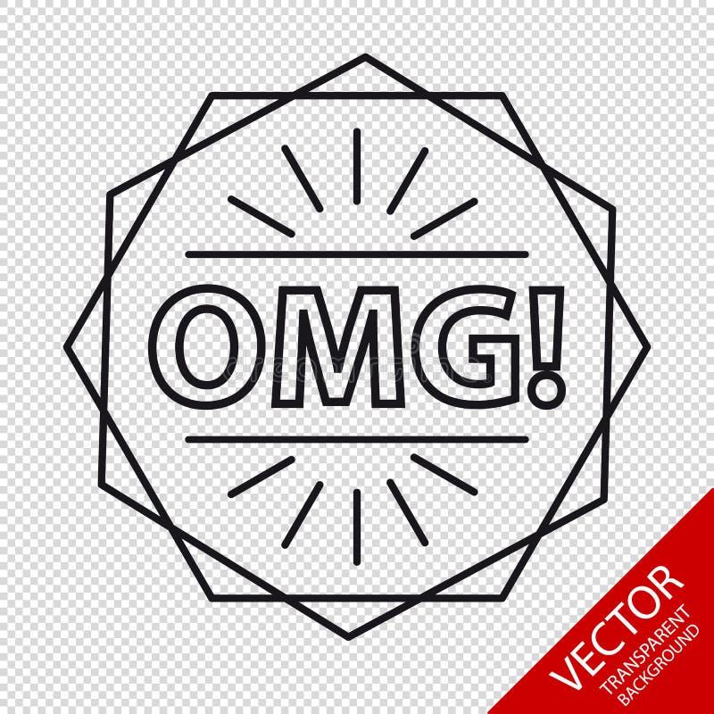 OMG! Pictogram - VectordieIllustratie - op Transparante Achtergrond wordt geïsoleerd royalty-vrije illustratie