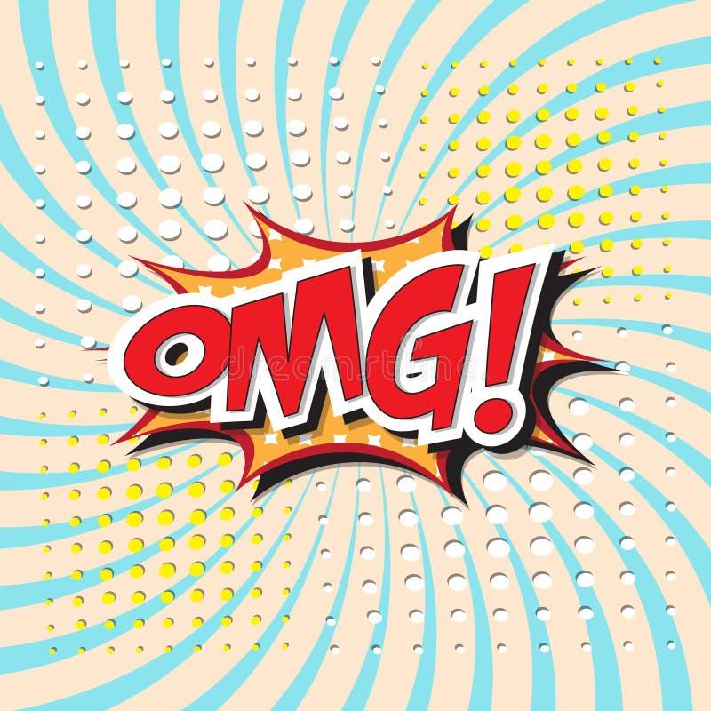 OMG! woord vector illustratie