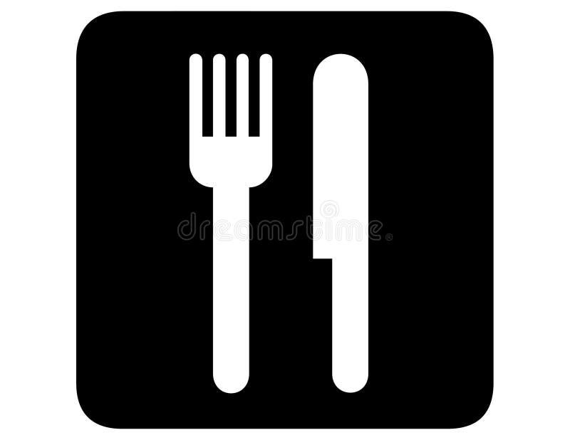 Omgekeerd restaurant royalty-vrije illustratie