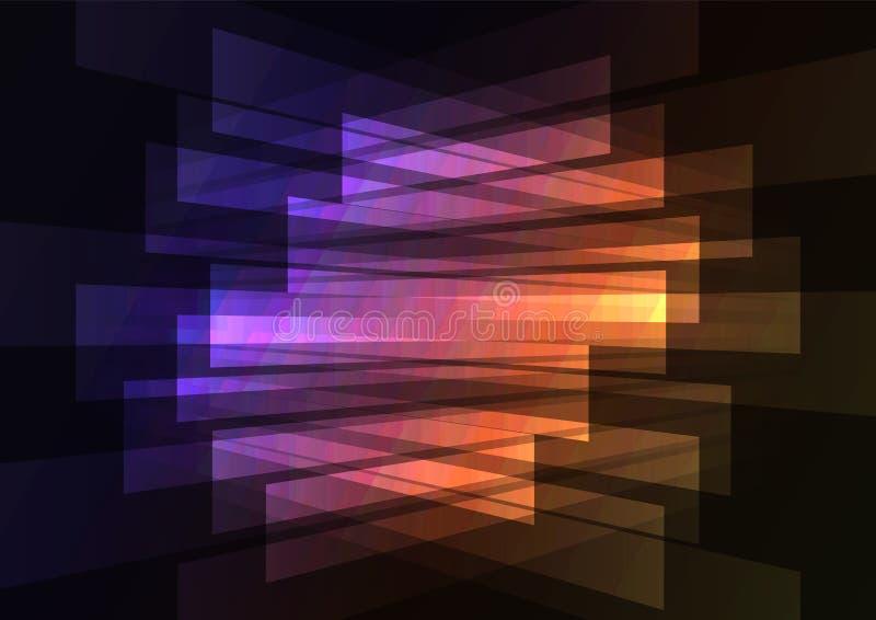 Omgekeerde abstracte achtergrond van de spectrum de veelkleurige schijnwerper stock illustratie