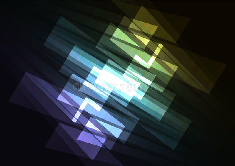 Omgekeerde abstracte achtergrond van de spectrum de veelkleurige schijnwerper royalty-vrije illustratie