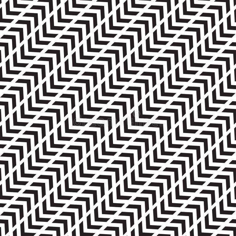 OMGEKEERDE DIAGONALE PIJL OPTISCH ART. Naadloos vectorpatroon royalty-vrije illustratie