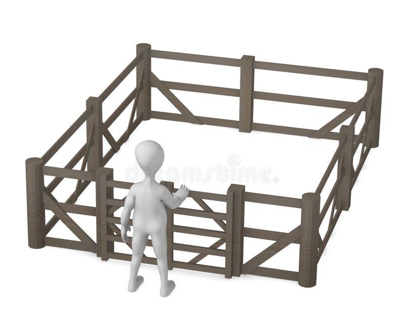 Omheining stock illustratie