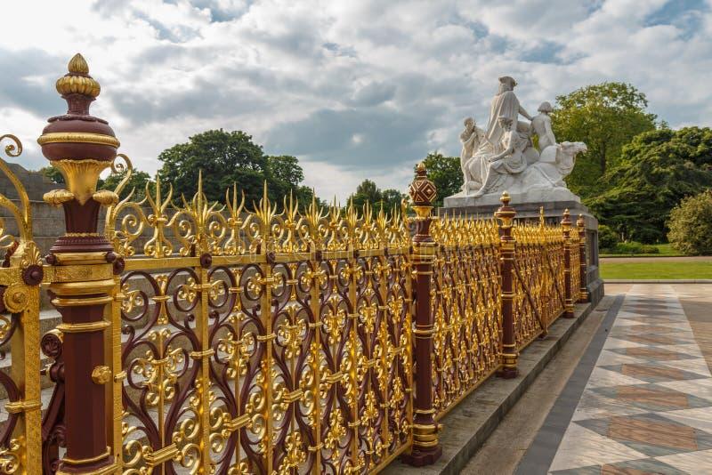 Omheining Albert Memorial stock afbeelding