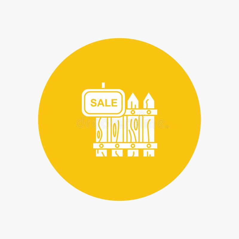 Omheining, Hout, Makelaardij, Verkoop, Tuin, Huis royalty-vrije illustratie