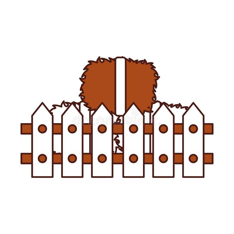 Omheining houten met stroblokken royalty-vrije illustratie
