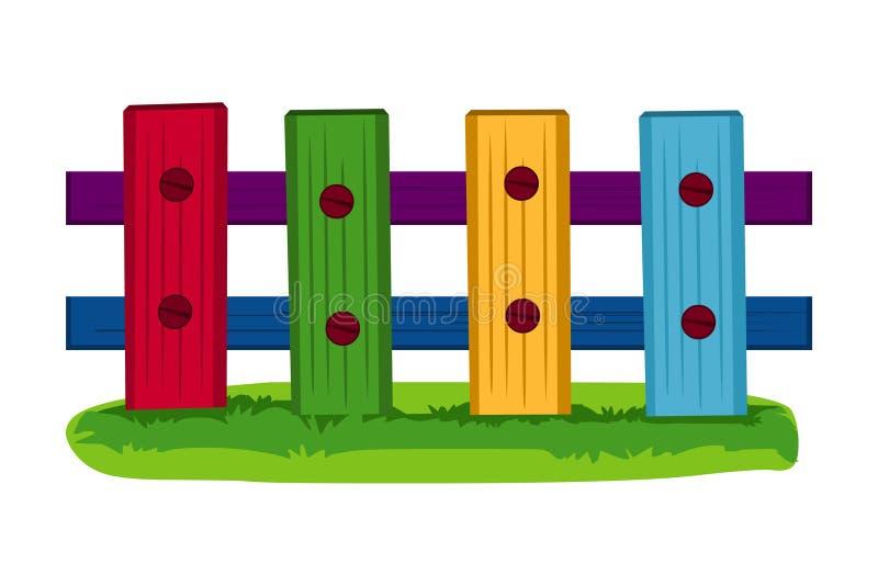 Omheining Kleurrijke vectorillustratie van omheining stock illustratie