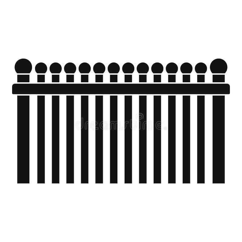 Omheining met balpictogram, eenvoudige stijl stock illustratie