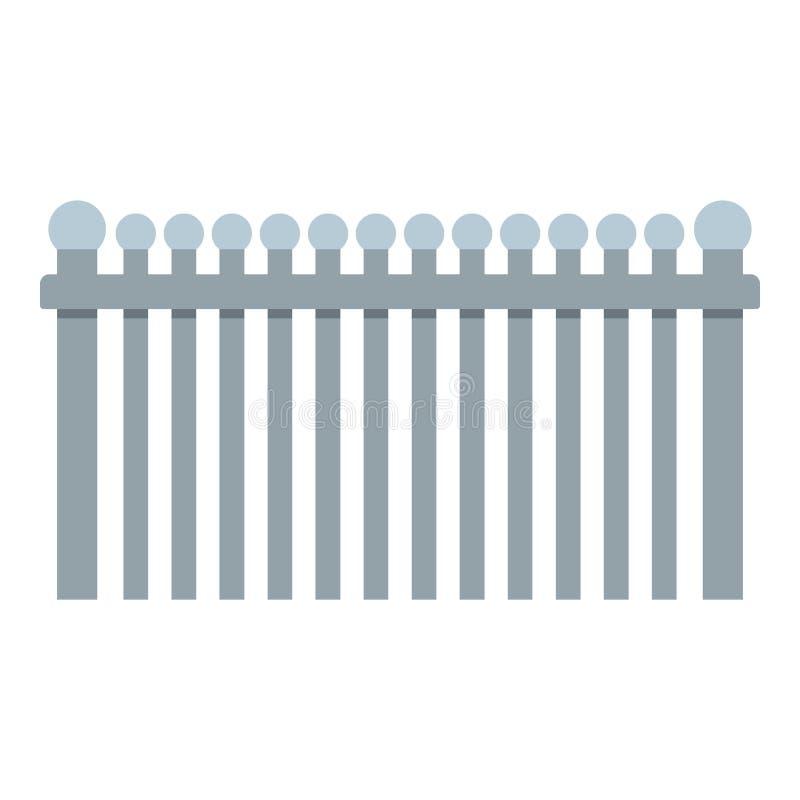 Omheining met balpictogram, vlakke stijl vector illustratie
