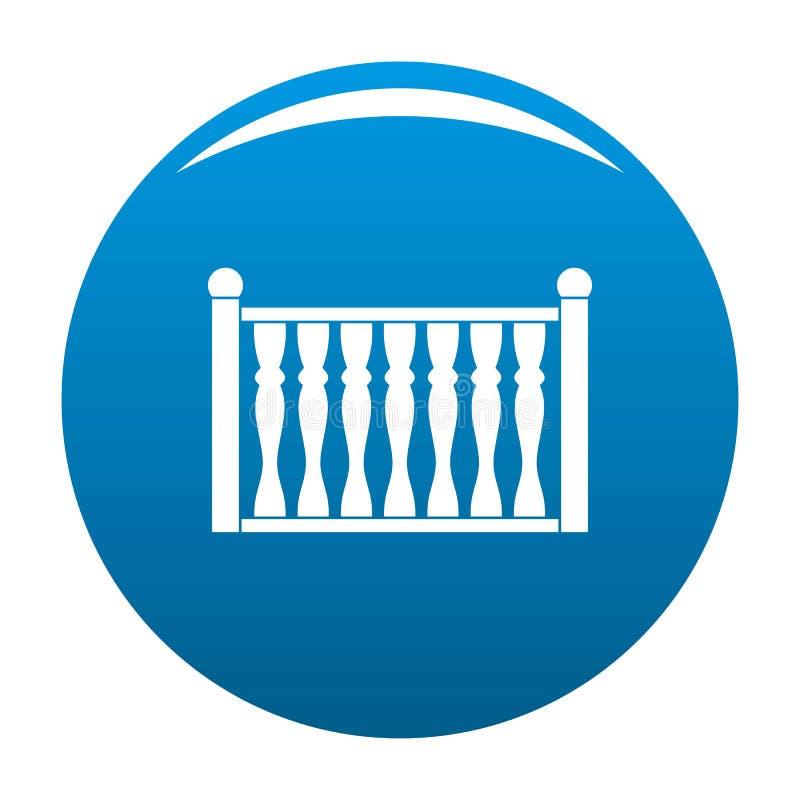 Omheining met het blauw van het kolompictogram royalty-vrije illustratie