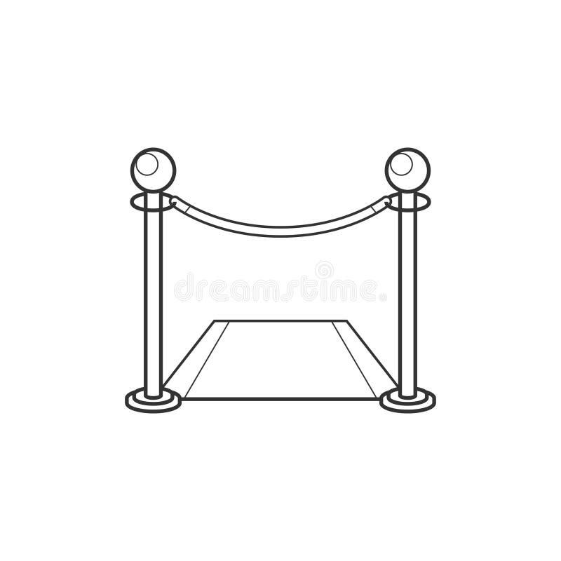 Omheining met het pictogram van de tapijtlijn royalty-vrije illustratie