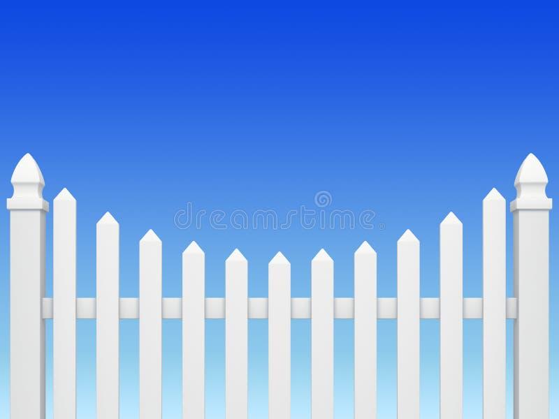 Omheining op blauwe hemel royalty-vrije illustratie