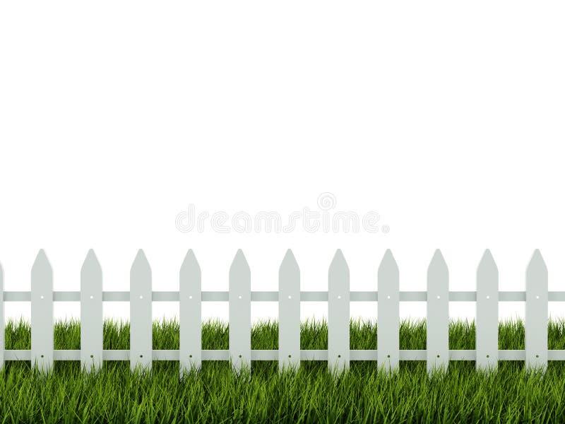 Omheining op gras vector illustratie