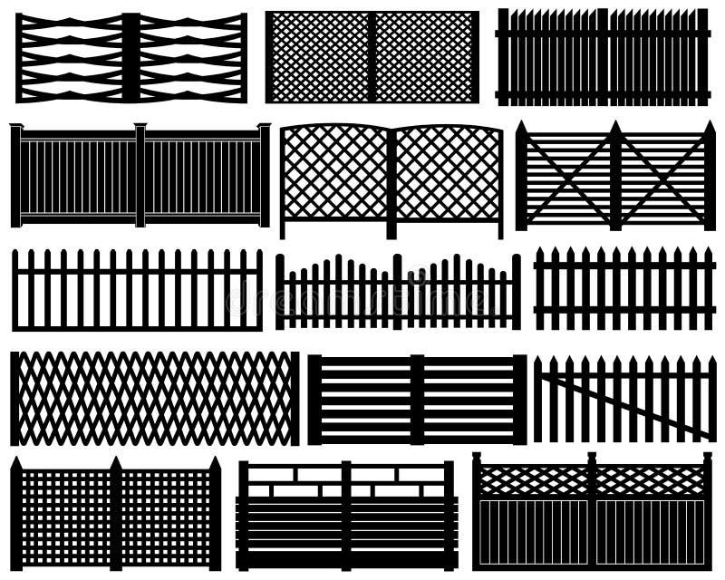 Omheining Set vector illustratie