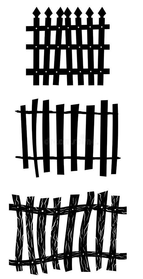 Omheining Set stock illustratie