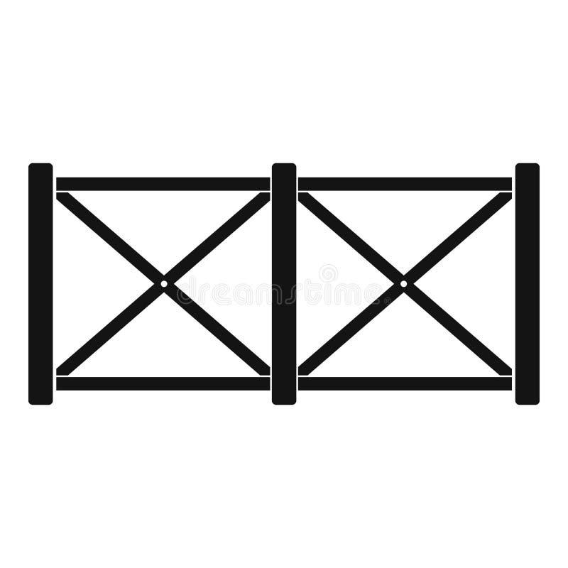 Omheining in stadspictogram, eenvoudige stijl stock illustratie