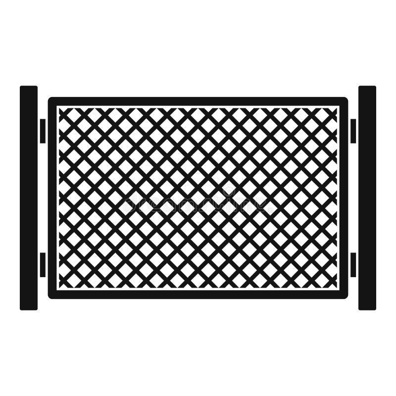 Omheining in stadspictogram, eenvoudige stijl vector illustratie