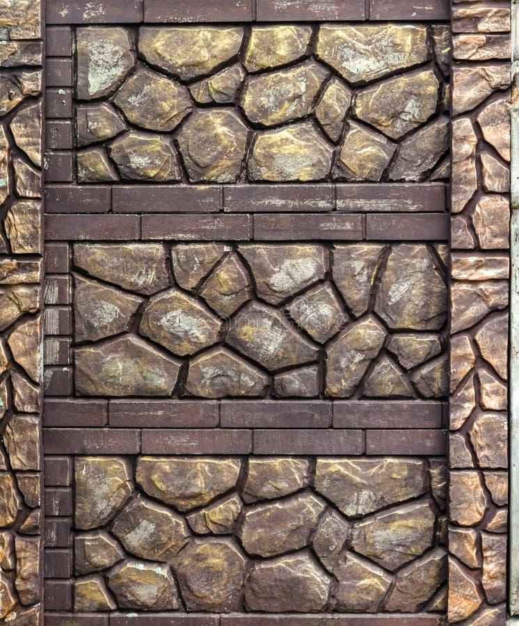 Omheining van decoratieve steen stock afbeeldingen