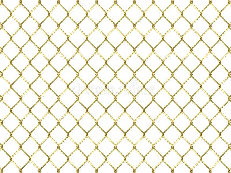 Omheining van gouden netwerk stock illustratie