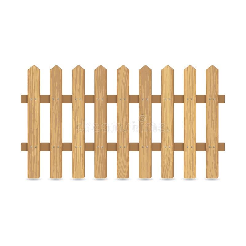 Omheining van houten raad vector illustratie