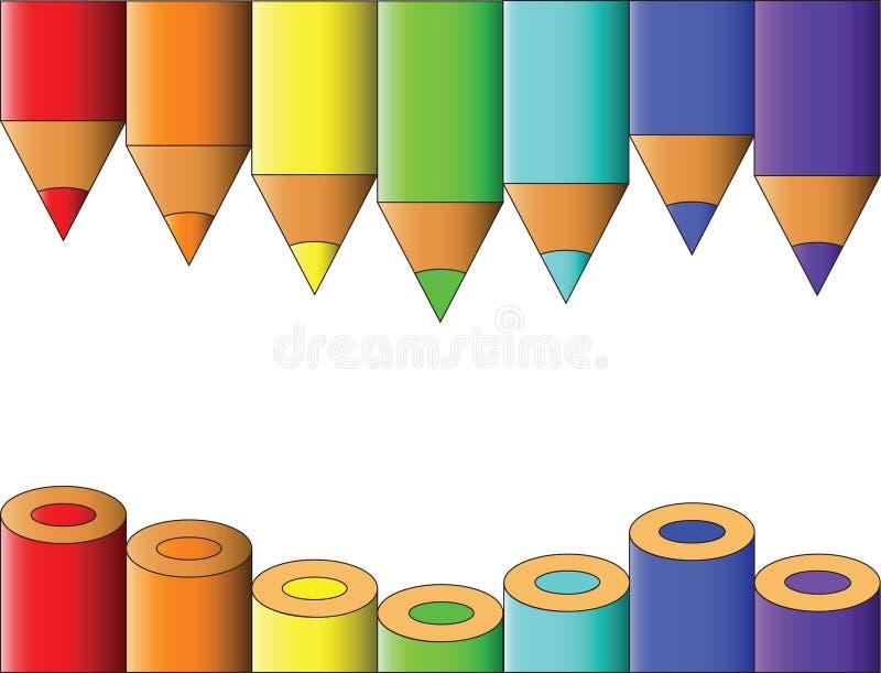 Omheining van potloden vector illustratie