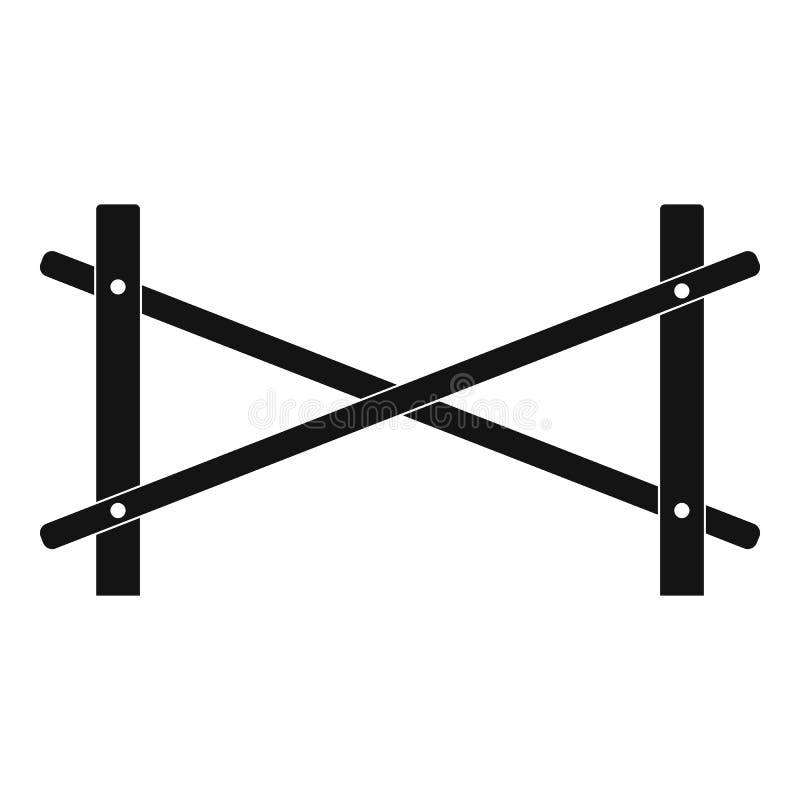 Omheining van twee staafpictogram, eenvoudige stijl vector illustratie