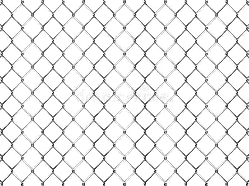 Omheining van zilveren netwerk vector illustratie