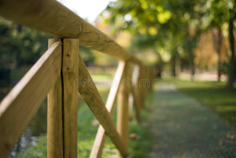 Omheiningen in een groen Park stock foto's