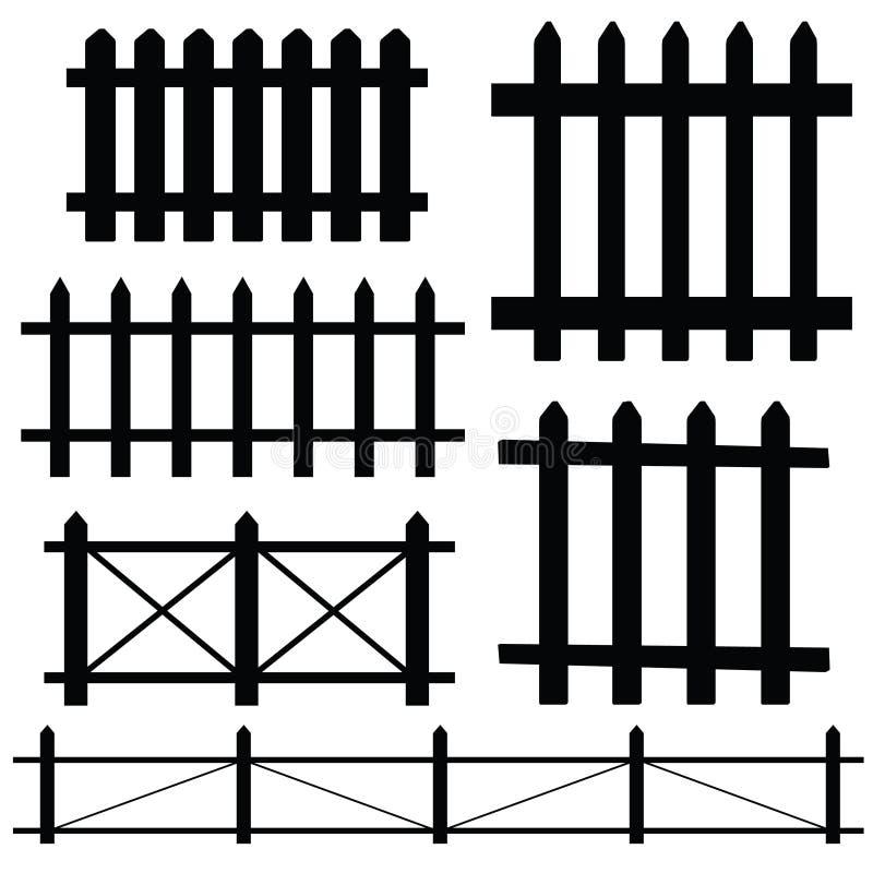 Omheinings vectorillustratie vector illustratie