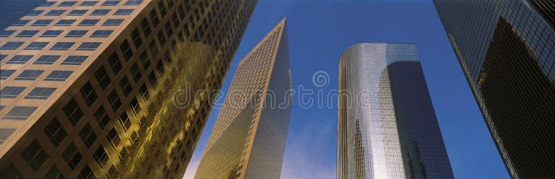 Omhoog bekijkend bureautorens, Los Angeles, CA royalty-vrije stock fotografie
